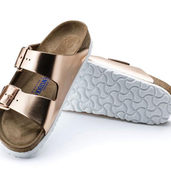 c49de7ccf005 Birkenstock Arizona Soft Footbed Metallic COPPER